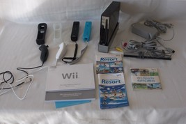 WORKING Nintendo Wii RVL-001 Black Console Bundle w/ Controllers & Games... - $121.51