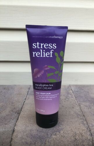 Bath Body Works Aromatherapy Stress Relief Eucalyptus Tea Cream keep calm