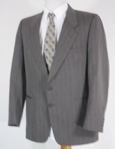 Givenchy Suit Jacket Mens 40 R Gray Striped Wool  - $18.76