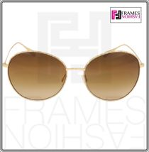 OLIVER PEOPLES BLONDELL 1102 Gold Titanium Brown Beige Polarized Sunglass 1102ST image 8
