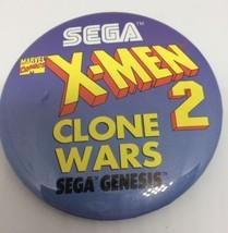 X-Men 2 Clone Wars Sega Genesis Promotional Button Pin Back Promo - $9.49