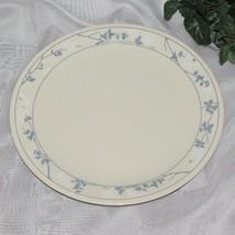 DINNER PLATE FIRST OF SPRING CORELLE BEIGE WHITE FLOWERS BLUE LEAVES COR... - $7.97