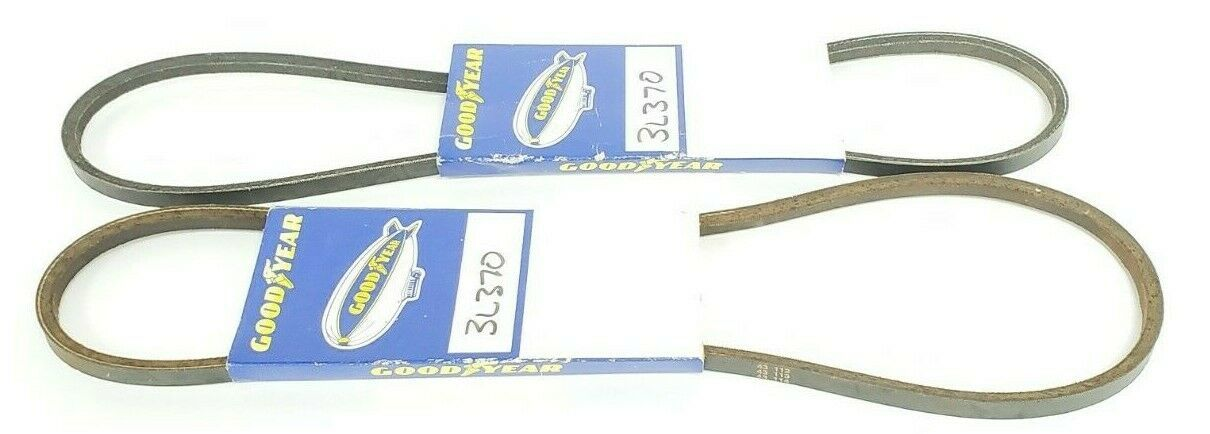 LOT OF 2 NEW GOODYEAR 3L370 V-BELTS FHP LIGHT DUTY SMOOTH 37X3/8IN