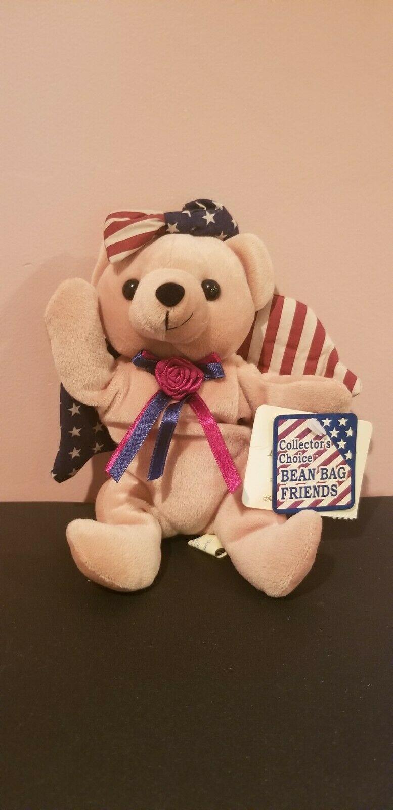Stars & Stripes America Themed Collector's Choice Bean Bag Friend - $7.79