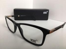 New MONTBLANC MB 540 MB540 001 58[]18 145 Black Rx Eyeglasses Frame Italy - $353.99