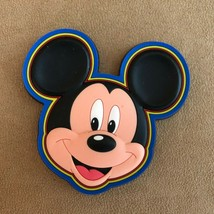 Mickey Mouse Disney magnet post card factory refrigerator head blue - $14.50