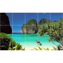 Beach Photo Tile Murals BZ30008. Kitchen Backsplash Bathroom Shower Wall Murals - $150.00+