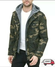 Levi's Men's Washed Cotton Hooded Military Jacket - $149.59