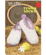 Big Foot Boutique Tennis Socks Crochet Pattern - $3.99