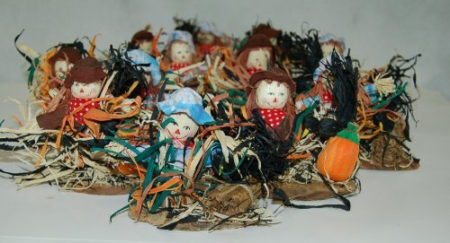 Wholesale Lot 12 Boy Girl Tabletop Small Scarecrow Fall Decorations