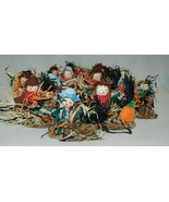 Wholesale Lot 12 Boy Girl Tabletop Small Scarecrow Fall Decorations - $27.99