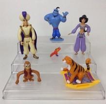 Lot of (6) Disney Aladdin Figures Aladdin Jasmine Genie Abu Lago Rajah C... - $17.77