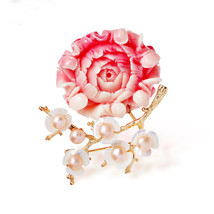 Gold Color Mutilcolour Austrian Crystal Plum Blossom Branches Design Brooch Imit - $22.15