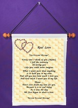Real Love - Personalized Wall Hanging (225-2) - $18.99