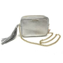 VS Victoria's Secret Metallic Silver Cross Body Purse Bag Snakeskin Print LE - $19.34
