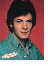 Rick Springfield teen magazine pinup clipping jean shirt close up gazing eyes