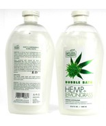 2 Natural Therapy Hemp and Lemongrass Cooling Revitalizing Calming Bubbl... - $28.99