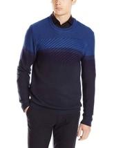 Calvin Klein Jeans Men's Cable Color Block Sweater, Estate Blue, XXL, 3851-3 - $14.69
