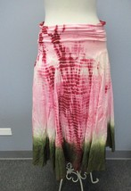 PAPILLON Pink Elastic Waist Tie Dye Full Calf Length Casual Skirt Sz M C... - $49.49