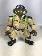TMNT Pro Pilot Don 1991 Teenage Mutant Ninja Turtles Vintage Figure Only - $9.89