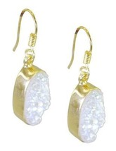 Multi Gold Plated Glass enticing Druzy jewellery Earring AU gift - $9.84