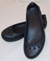 eb0ed25cc1931 Crocs Black Slip On Shoes Womens 7 Slingbacks Flats Water -  31.72