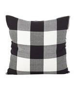 Fennco Styles Buffalo Check Plaid Design Cotton Down Filled Throw Pillow... - $36.62