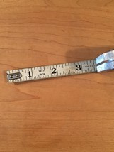 Vintage 50s Evans 12 foot White Tape, 112w, tape measure image 5