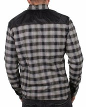 Staple New York Black Grey Red Complex Flannel Plaid Button Up Shirt NWT image 2