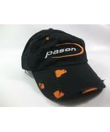 Pason Factory Distressed Hat Black Orange Hook Loop Baseball Cap - $15.87