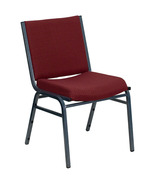 Offex OFX-89942-FF Heavy Duty Burgundy Patterned Upholstered Stack Chair - $74.70