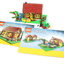 LEGO 5766 Creator 3 in 1 Log Cabin House River Retired 2 Instruction Man... - $36.20
