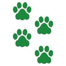 LiteMark 3 Inch Green Dog Paw Prints - Pack of 48 - $27.95