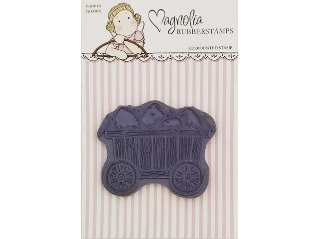 Magnolia Wagon Rubber Stamp EZ Mounted Stamp