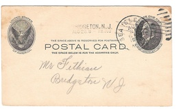 UX18 Bridgeton NJ  Hampden Machine Cancel 1903 Sea Isle City Duplex Postal Card image 1