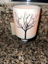 Scentsy Tilia Wax Warmer Plug In Nightlight Silhouette Tree Design Matte... - $24.75