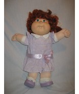 Vintage Cabbage Patch Kids Doll Red Hair Green Eyes Girl In CPK Clothes - $28.01