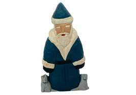 Lancy Smith Hand Carved Santa Claus Signed Folk Art Christmas Figurine M... - $123.75