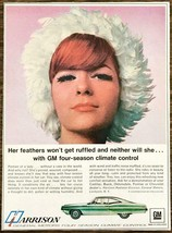 1967 GM Harrison 4 Season Climate Control Print Ad Her Feathers Wont Get... - $10.89