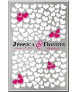 Wedding Guest Book Alternative 150 Hearts to sign Memory Keepsake Poster... - $22.28