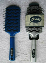 Goody Select Plastic Vented Flat Paddle Hair Brush Blow Dry 1999 Blue Si... - $35.00