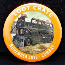 Loot Crate 'Combat' Pin - November 2015 - $3.99