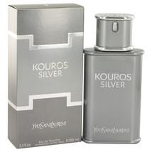 Kouros Silver by Yves Saint Laurent Eau De Toilette Spray 3.4 oz for Men... - $57.74