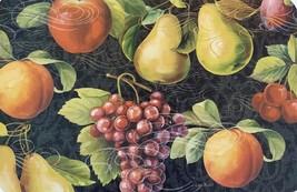 PLASTIC PLACEMATS Set of 4 Reversible Apple Mixed Fruit Grapes Cherry Place Mat image 3