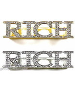 RICH Ring with Crystal Rhinestones  2 - 3 Finger New Back Plate Design  - $24.99