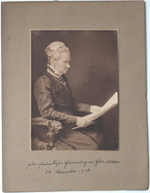 Original Vintage 1910 elderly woman by H.C. KOSEL pictorialist art photo! - $46.36