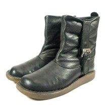 Dr Doc Martens Tana Black Leather Slouch Buckle Ankle Boots Womens Size 8 - $107.09