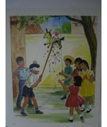 Mexican Children with Pinata - Art Print - David C. Cook Co 1967 - $10.80