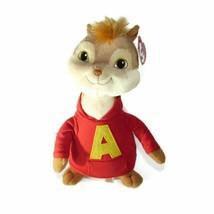 "10"" TY Beanie Buddy ALVIN Chipmunks Red Hoodie Squeakquel Movie Plush Toy NWT - $19.79"