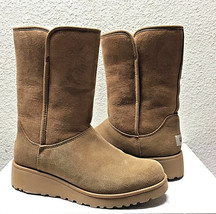 UGG AMIE CLASSIC SLIM CHESTNUT SUEDE WEDGE BOOT US 12 / EU 43 / UK 10.5 ... - €128,50 EUR